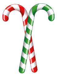 red & green candy canes