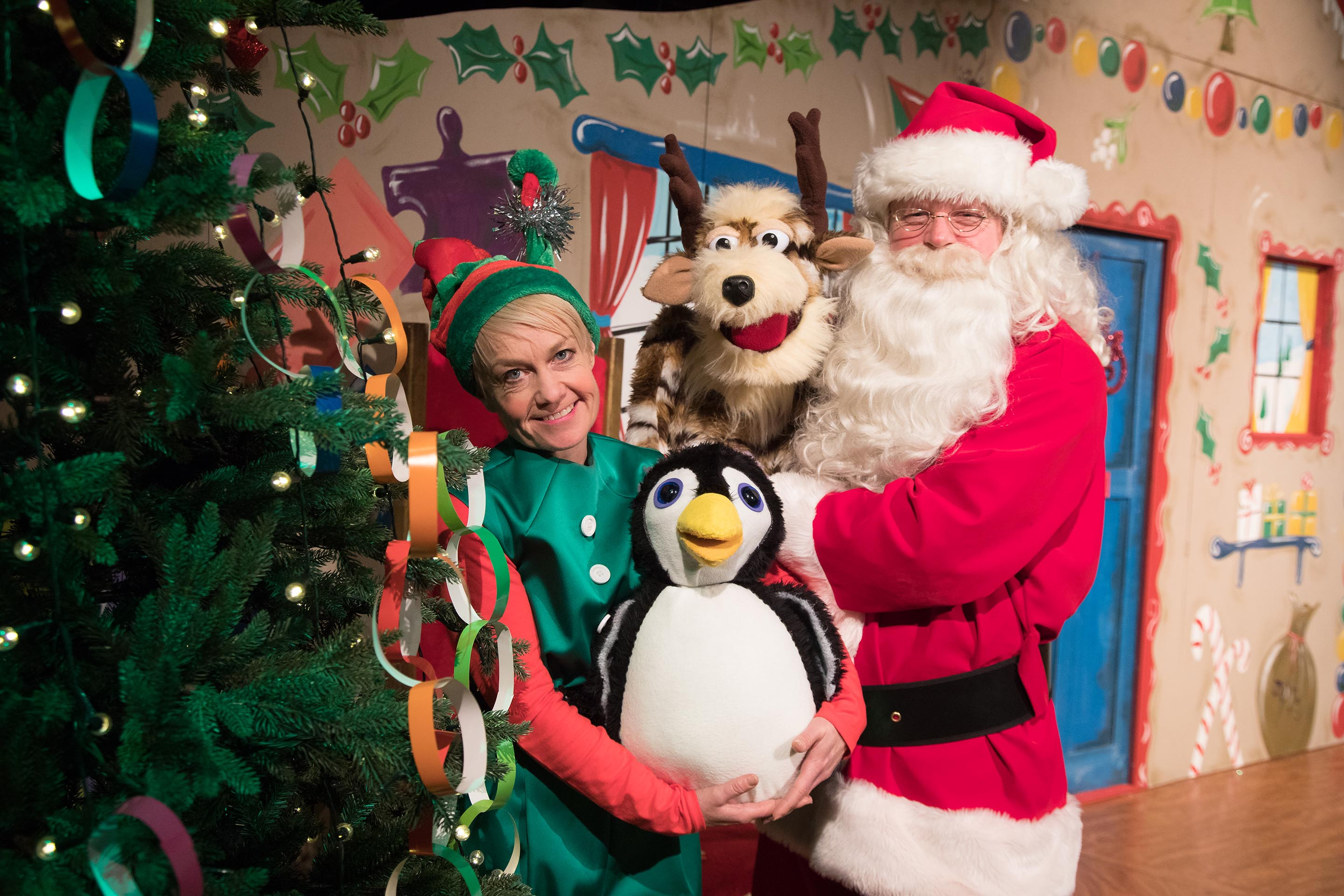 The Santa Shows - Dotty the Elf, Pompom the Penguin, Dasher the Reindeer and Father Christmas